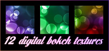12 Digital Bokeh Textures